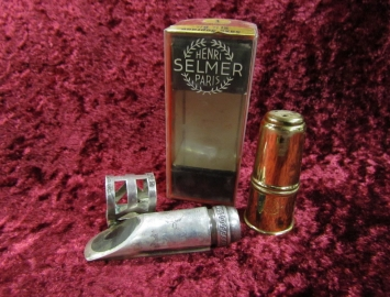 Vintage Selmer Paris Soloist E Metal Mouthpiece for Soprano Sax in Original Box With Lig