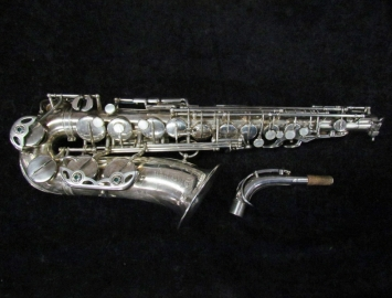 MINT 'New Old Stock' Silver Selmer Super Balanced Action Alto Sax - Serial # 47852