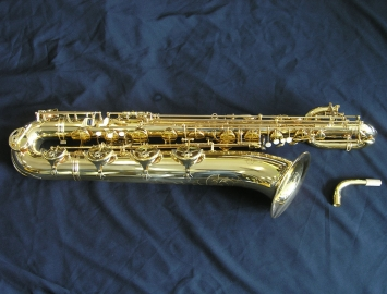 New Buffet 400 Series Gold Lacquered Baritone Saxophone ...