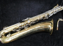 Vintage Buescher 400 Gold Lacquer Baritone Sax, Low Bb, Serial #667046
