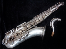 Vintage Selmer Paris Original Silver Plate Super Balanced Action Tenor, Serial #45911