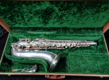 Silver Plated Buescher 400 Top Hat & Cane Tenor Sax - Serial # 354092