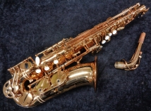 Pristine Eastman 640 Series Alto In Gold Lacquer, Serial # 1207015 - Includes Pro Set-Up!