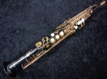 Beautiful Keilwerth SX90 Black Nickel Straight Soprano Sax, Serial #116212