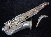 Silver Yamaha Custom EX Alto Sax in MINT Condition - Serial # 174056