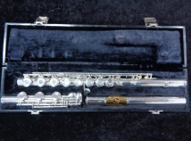 Solid Silver Gemeinhardt KG Special Flute - Open Hole Low B - Serial # 81010
