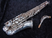 Gorgeous Yamaha Custom EX Alto Sax in Silver Plate - Serial # C74607