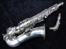 Vintage CG Conn New Wonder Alto Sax in Beautiful Original Silver - Serial # 128900