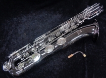 New Eastman 640 Series Baritone Saxophone w/ Black Nickel Body, Silver Keys