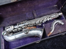 Vintage C.G. Conn C- Melody Sax in Nickel Plate, Serial #51748