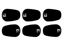 BG France Mouthpiece Cushions - Black .08mm in Large or Small