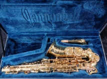 Beautiful Cannonball Gold Lacquer Key Series AKey – L Alto Saxophone, Serial #165390