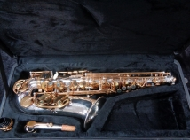 Miwazaki III Student Alto Saxophone in Silver Gold Lacquered Keys