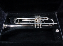 E. Benge Los Angles 7X Large Plus Bore Silver Plate Bb Trumpet, Serial #960158