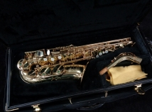 Mint Condition Selmer Paris Super Action 80 Series II Alto Sax in Gold Lacquer, Serial #399995