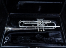 Silver Plated E Benge Resno-Tempered Bell # 3 ML Trumpet - Serial # 402992