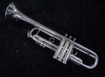 Vintage Benge Los Angeles California Resno Tempered Bell 2 Silver Trumpet, Serial #30769