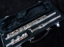 Very Lightly Played Yamaha 261 Open Hole Low C Foot Flute, Serial #1336677