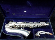 Lovely Vintage Original Silver Plate C.G. Conn Late Transitional Alto Sax, Serial # 249574
