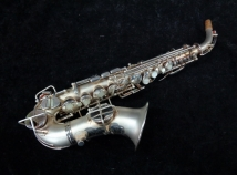 Vintage Pan American Silver Plate Curved Soprano Made by Conn, Serial #43231