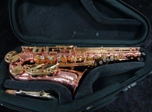 Lightly Played Buffet Senzo Red Brass Model with Additional Silver Neck, Serial #40940