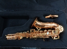 P. Mauriat 2400GL Gold Lacquer Curved Soprano Sax in Mint Condition, Serial PM0862310