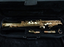 Great Price! J Micheal Gold Lacquer Soprano Sax – High F# and G