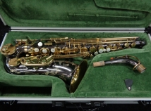 Gorgeous! Keilwerth SX90R Black Nickel and Gold Lacquer Alto Sax, Serial #111179
