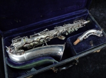 Vintage Original Silver Plate C.G. Conn 6M Naked Lady Alto, Serial #310920