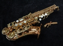 Beautiful! Yanagisawa 992 Bronze Curved Soprano Saxophone, Serial #00312519