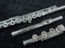 Silver Plated Azumi AZ200 RBE Series Flute w/ Open Holes, Low B