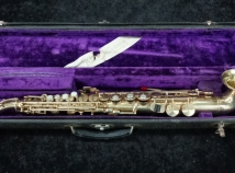 WOW! Original Gold Plate King H.N. White Saxello Soprano Sax, Serial #68480