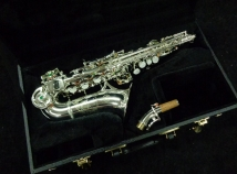 Very Lightly Played! Roberto Winds Silver Plate Curved Soprano Saxophone, Serial #1102
