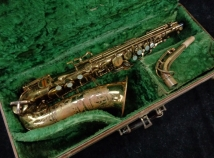Vintage Buescher Big B Aristocrat 140 Alto Sax in Original Lacquer, Serial #328813