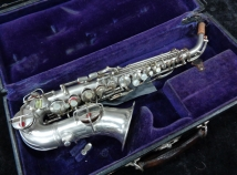 A Rare Beauty! Original Silver Vintage Conn 4M Naked Lady Curved Soprano, Serial #245071