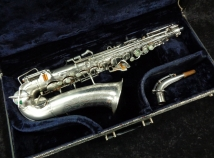 Beautiful! Buescher Aristocrat Alto in Original Brushed and Burnished Silver Plate, Serial #270235