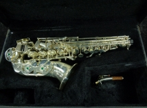 Lightly Used LA Sax Silver Plated Curved Soprano, Serial #800364
