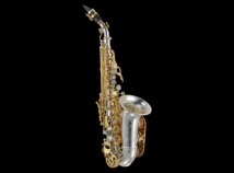 New! P. Mauriat System 76 Custom Class Curved Soprano - Silver and Gold