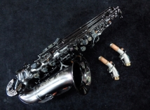 Beautiful Cannonball Stone Series Black Raven Curved Soprano Saxophone, Serial #125816