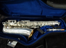 Gorgeous Silver Plated Selmer DORSEY MODEL Alto Sax - Serial # 24128