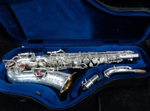 Beautiful Vintage Silver Plated Buescher Aristocrat Alto Saxophone, Serial #265777