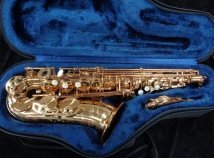 Outstanding Pro Player! P. Mauriat Master 97 Alto Sax in Gold Lacquer, Serial #PM0726615