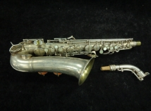 Vintage Original Silver Plate Conn Transitional 6M Naked Lady Alto Sax, Serial #253941
