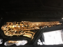 Like New! Yamaha YAS-875EX II 'Custom EX' Alto Saxophone in Gold Lacquer, Serial #E96550