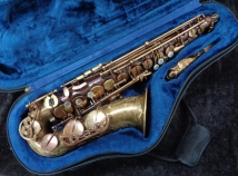 Master 97 Un-Lacquered Alto Sax with Gold Lacquer Neck, Serial #PM0425615