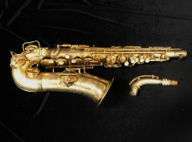 Original Vintage C.G. Conn Gold Plated 'Chu-Berry' Alto Saxophone, Serial #221315