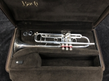 Vincent Bach Stadivarious Model 72 ML Bore Silver Plated Trumpet, Serial #198766