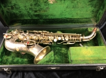 WOW! Super Rare Gold and Silver Plate C.G. Conn New Wonder Curved Soprano, Serial #143726