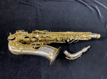 Original Gold Plated Conn Chu Alto Sax with Unique Portrait Engraving - Serial # 155420