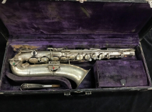 Vintage Harwood Professional Silver Tenor Saxophone #152587